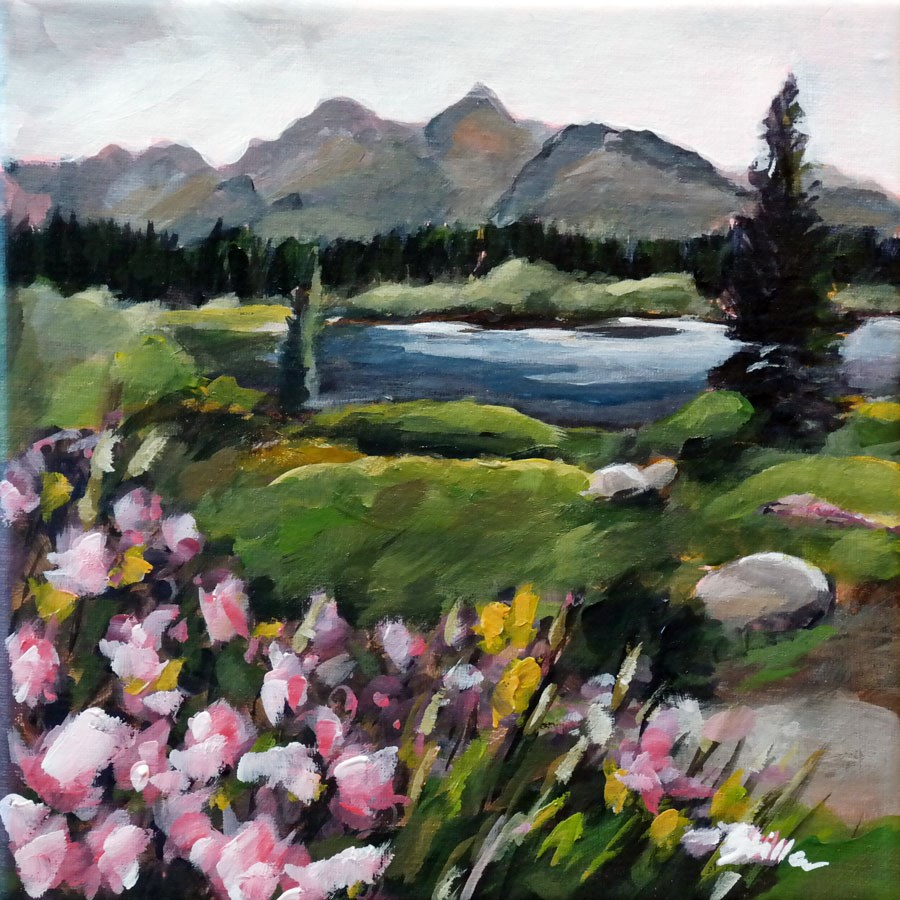 """1449 Wildflowers"" original fine art by Dietmar Stiller"