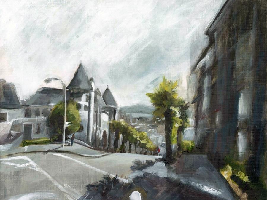 """1654 The Streets of San Francisco"" original fine art by Dietmar Stiller"