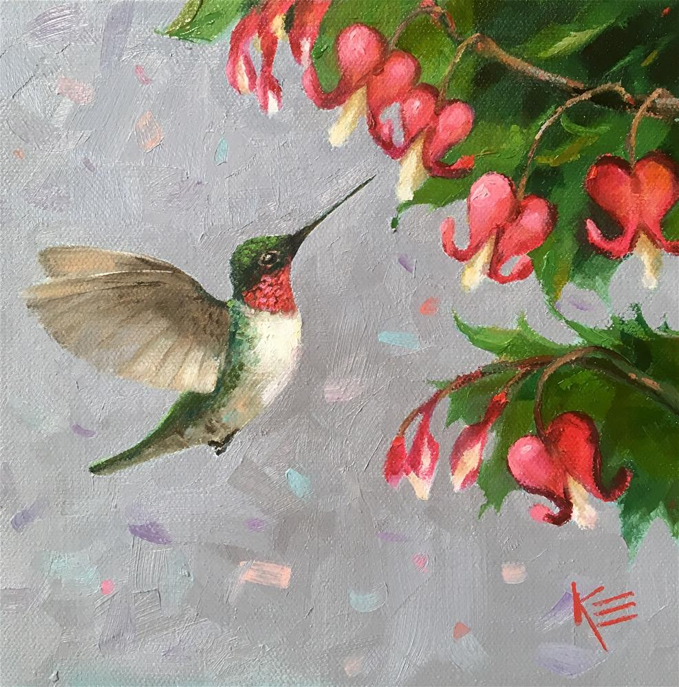 """Fluttering Friend"" original fine art by Krista Eaton"