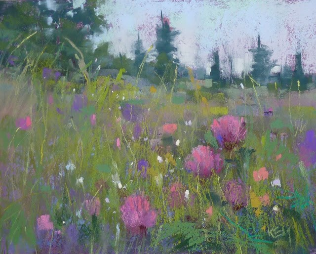 """""""Announcing IAPS 12 and The Landscape in Bloom"""" original fine art by Karen Margulis"""