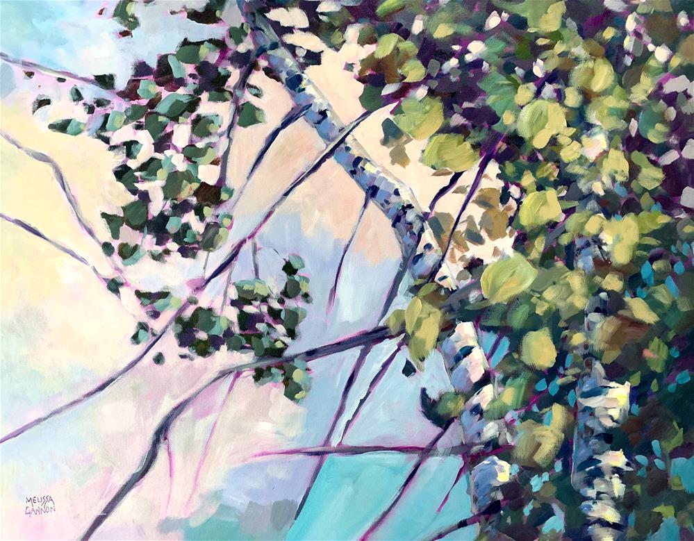 """Light in the Leaves"" original fine art by Melissa Gannon"