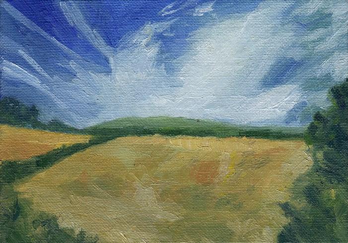 """""""Golden Fields"""" original fine art by J M Needham"""