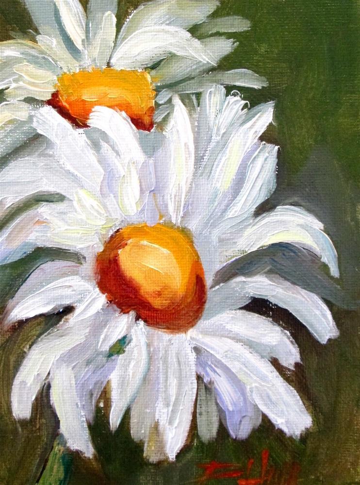 """Happy Daisies"" original fine art by Delilah Smith"