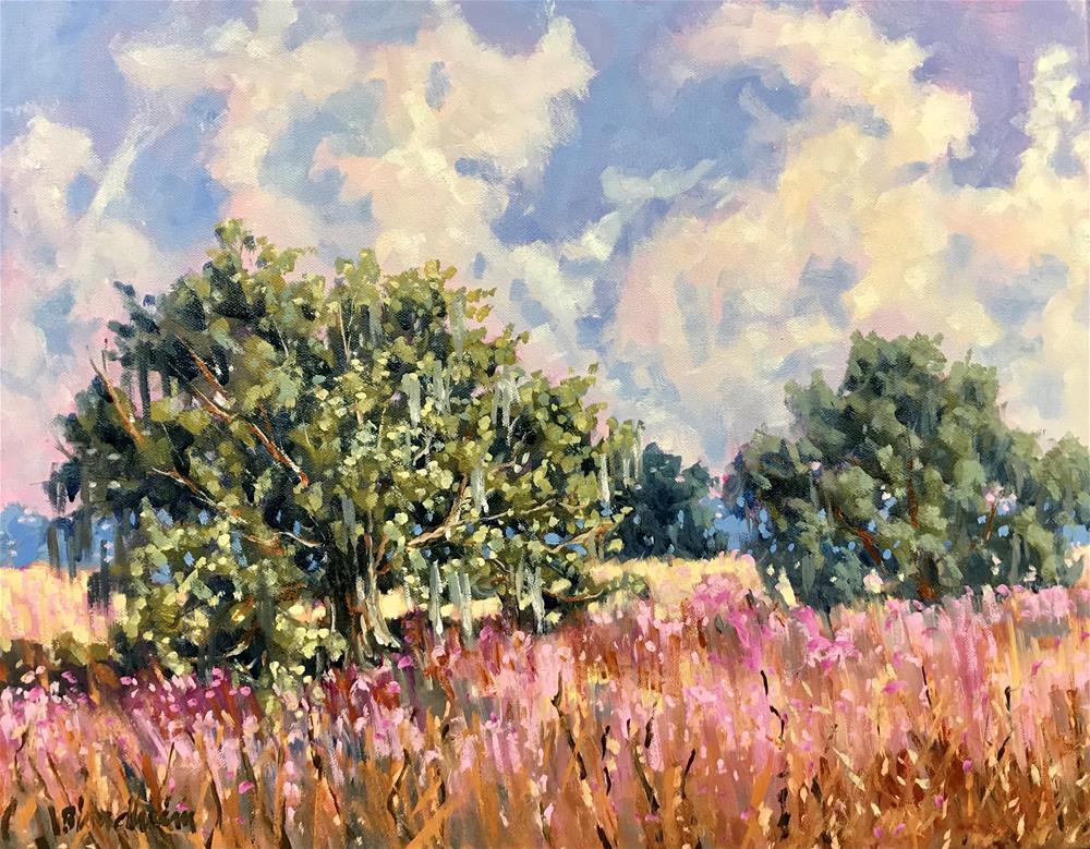 """""""Field in Spring"""" original fine art by Linda Blondheim"""