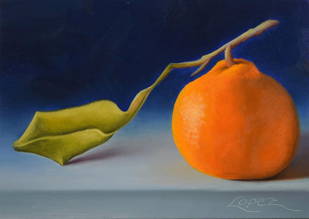 """20. Satsuma Mandarin I"" original fine art by Gema Lopez"