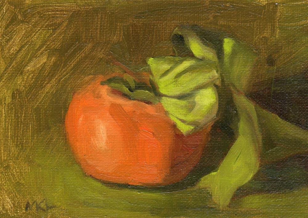"""Persimmon Study #4"" original fine art by Marlene Lee"