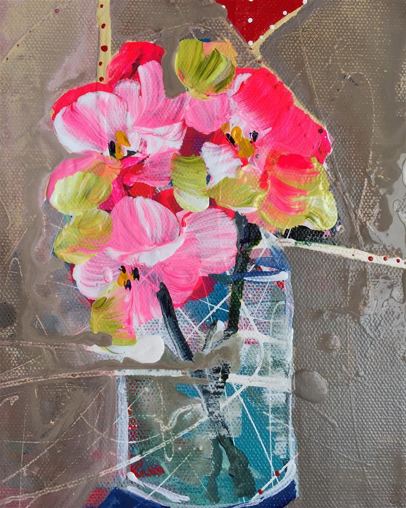 """""""Neon Trio"""" original fine art by Jenny Doh"""