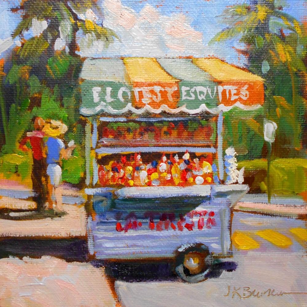 """Elotes y Esquites"" original fine art by Jeanne Bruneau"