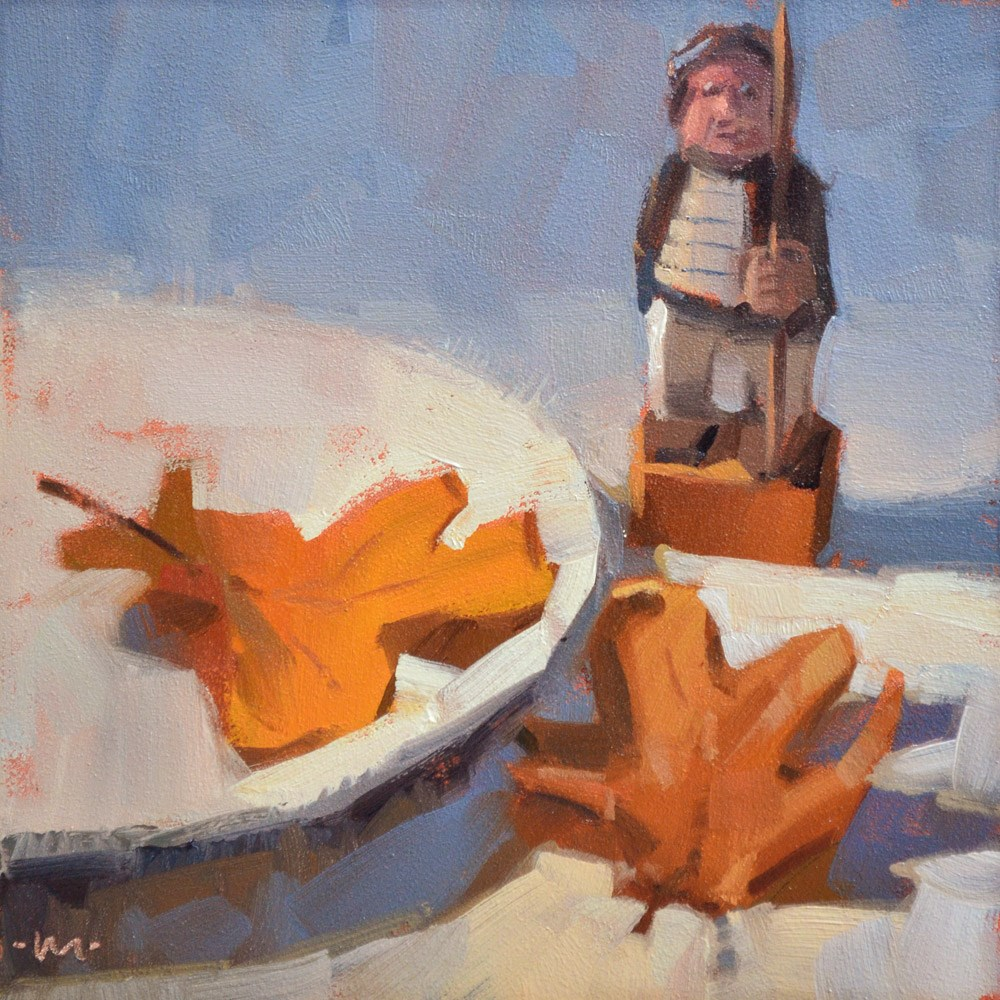 """Please Don't Leaf Me Alone with This Guy"" original fine art by Carol Marine"
