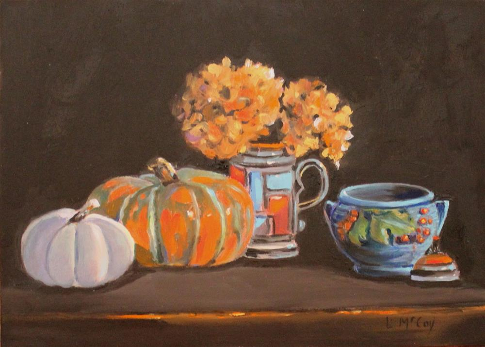"""November Blues, Still LIfe Oil"" original fine art by Linda McCoy"