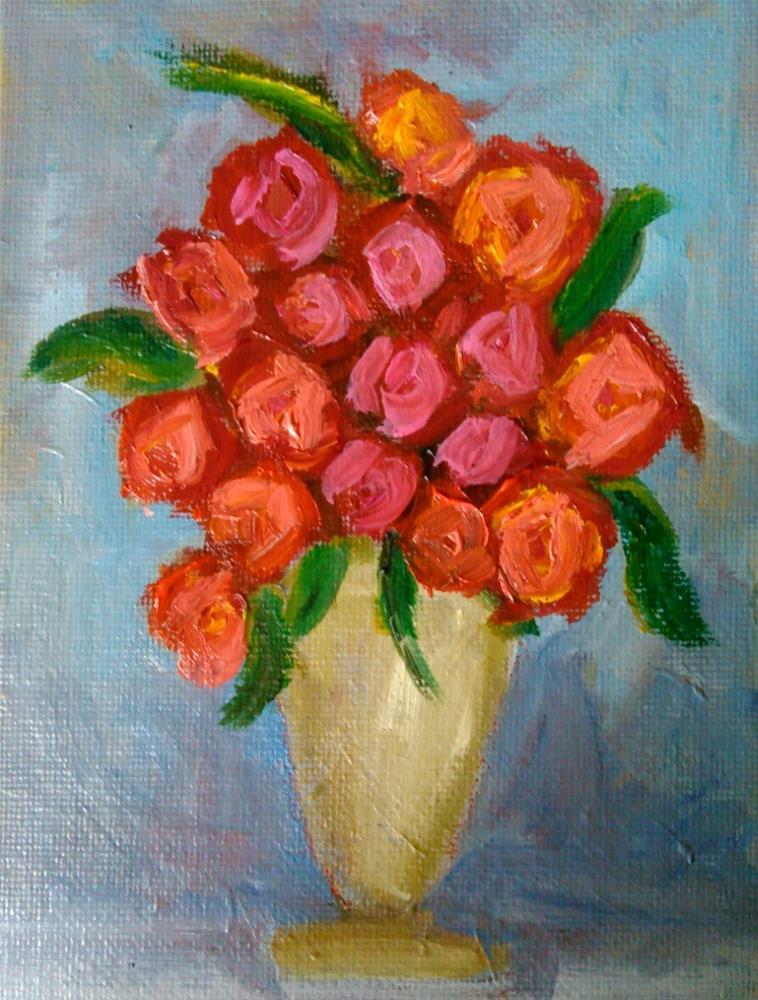 """""""The bouquet"""" original fine art by Gerri Obrecht"""