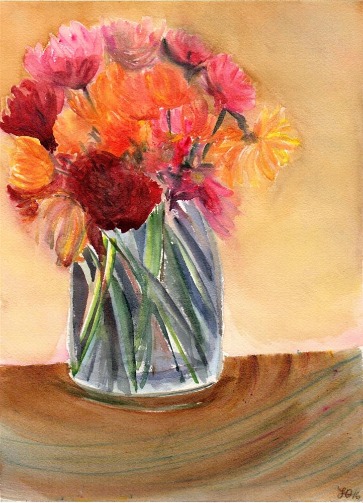 """Dahlia Memories"" original fine art by Laura Denning"