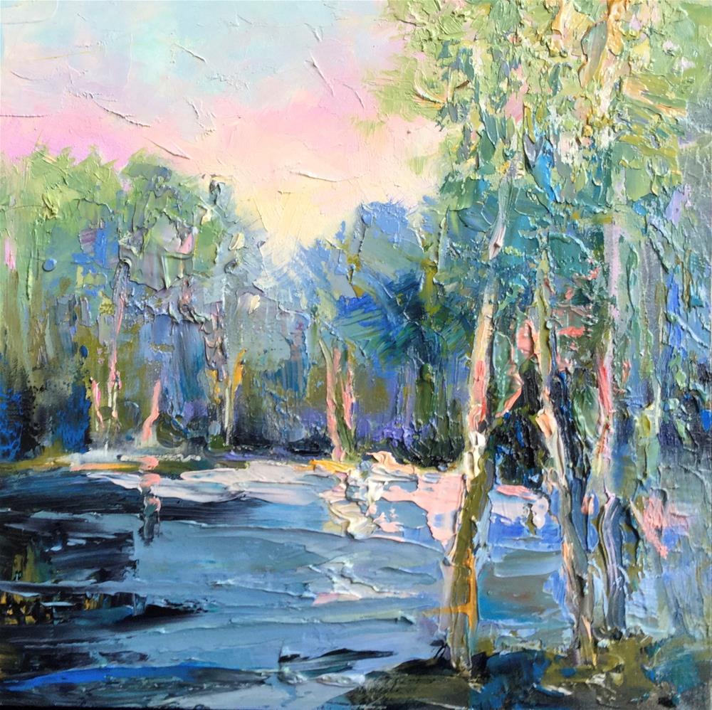 """Impasto Landscape 99"" original fine art by Charlotte Fitzgerald"