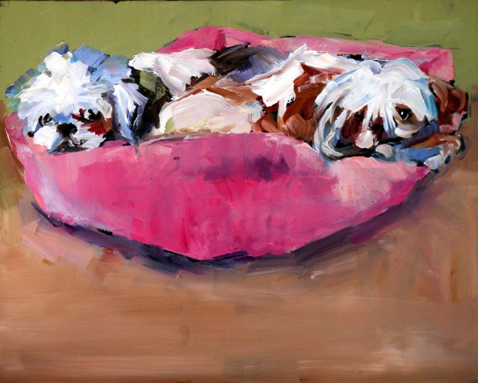 """these two"" original fine art by Carol Carmichael"