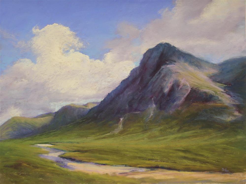 """""""Glen Coe, Scotland"""" original fine art by Sharon Lewis"""