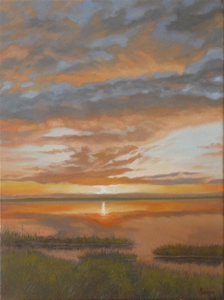 """Marsh Daybreak"" original fine art by Peter Lentini"