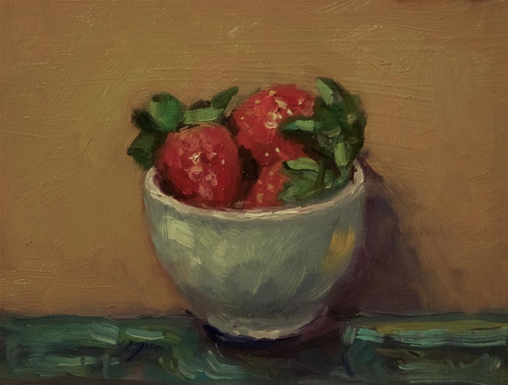 """'Strawberries'"" original fine art by Andre Pallat"