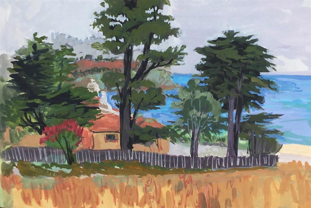 """Carmel Monestery"" original fine art by Rhett Regina Owings"