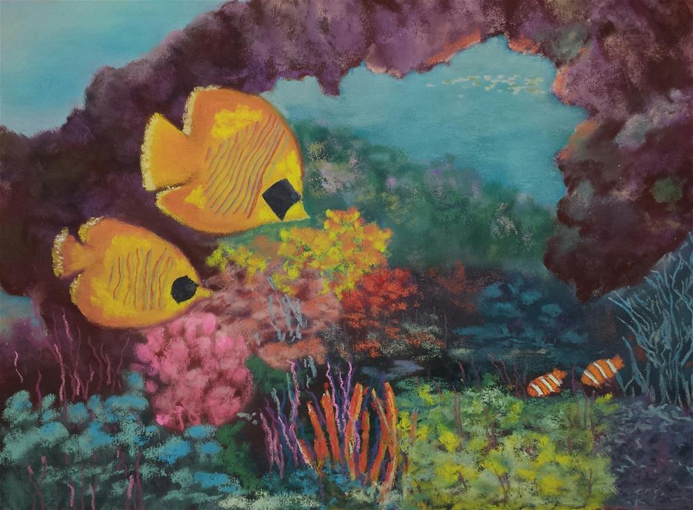 """""""Under The Sea"""" original fine art by Donna Donnon"""