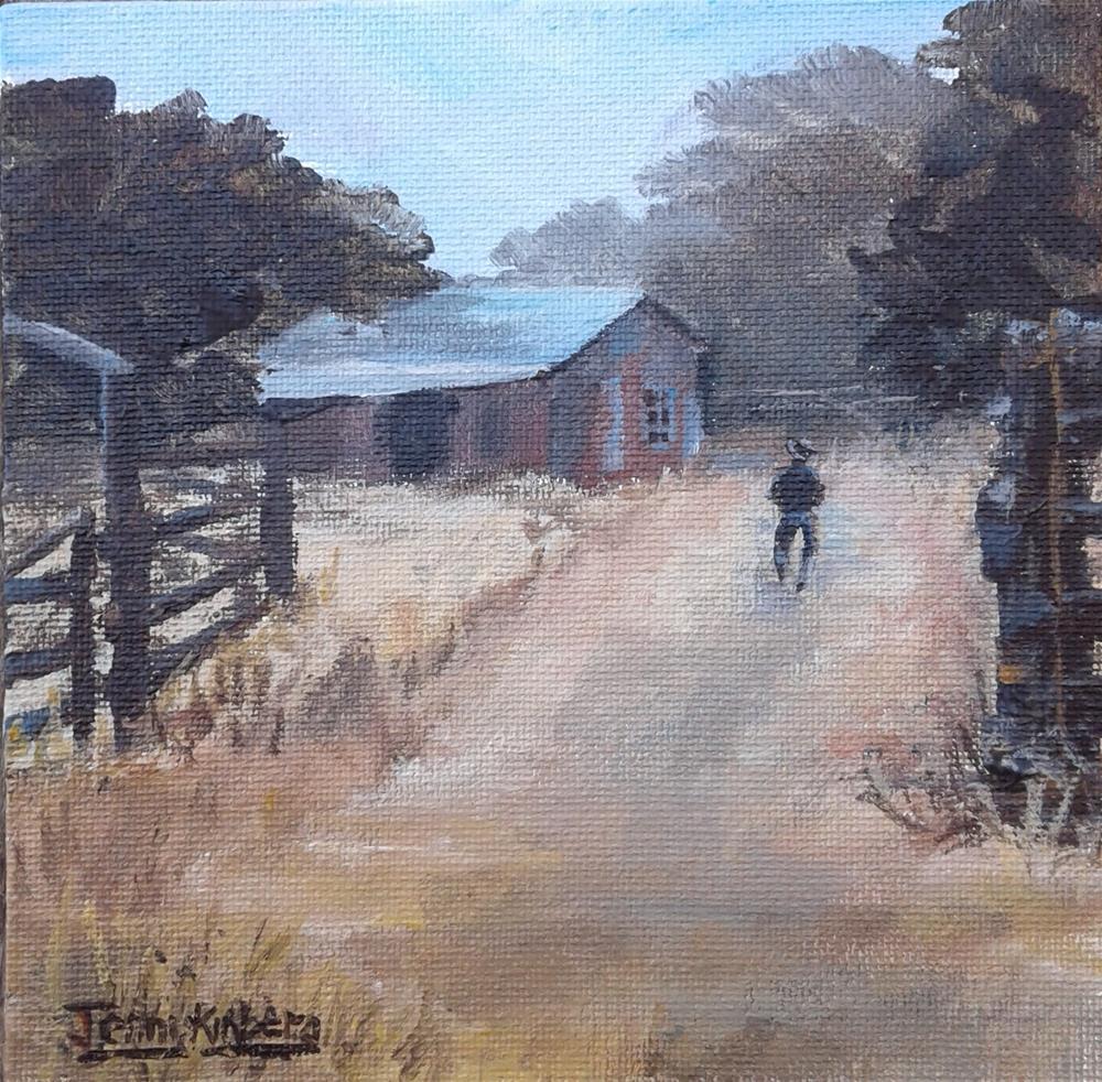 """Faraway Ranch "" original fine art by Jenny Kinberg"