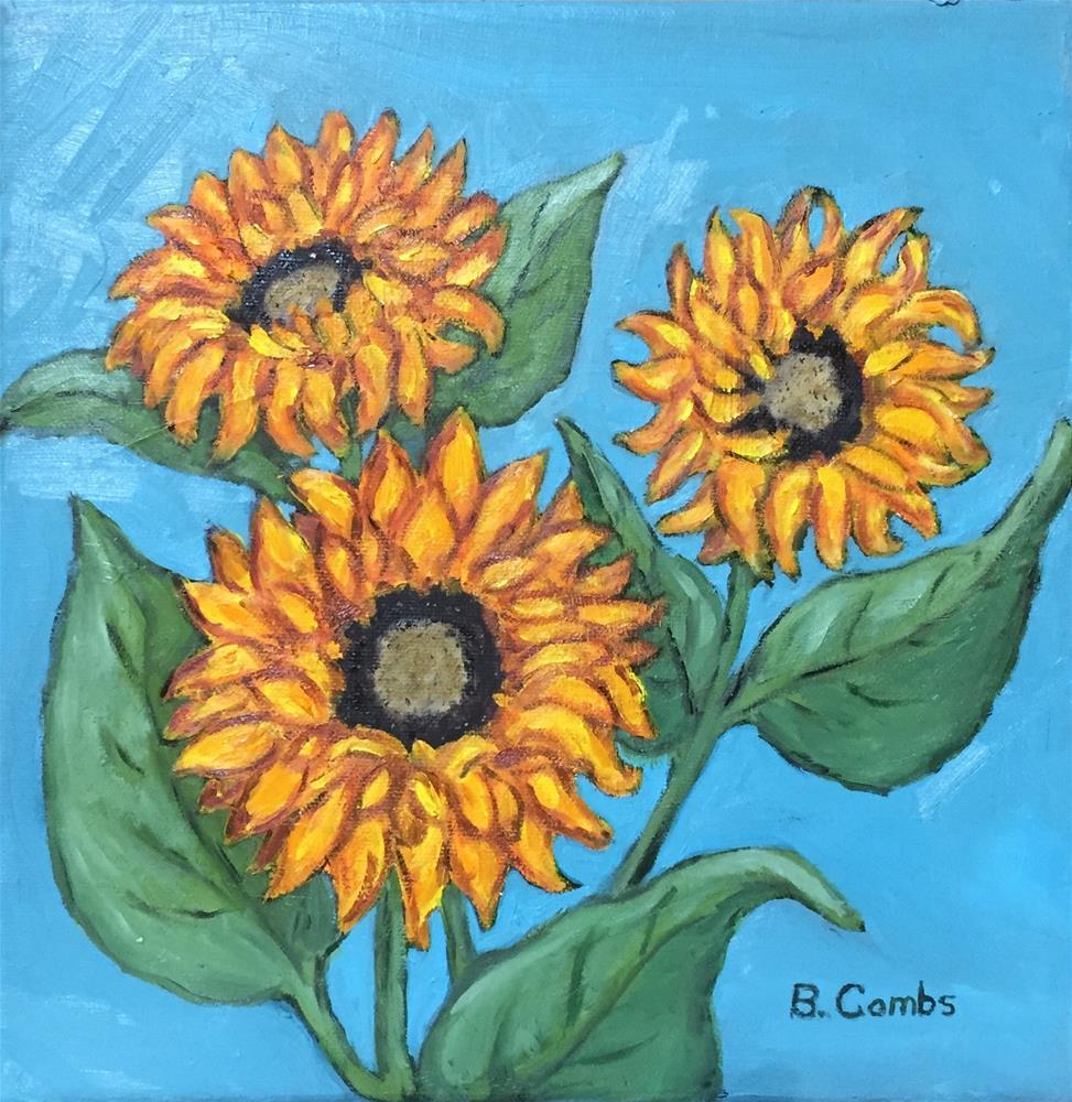 """Sun Worshipers"" original fine art by Bebe Combs"