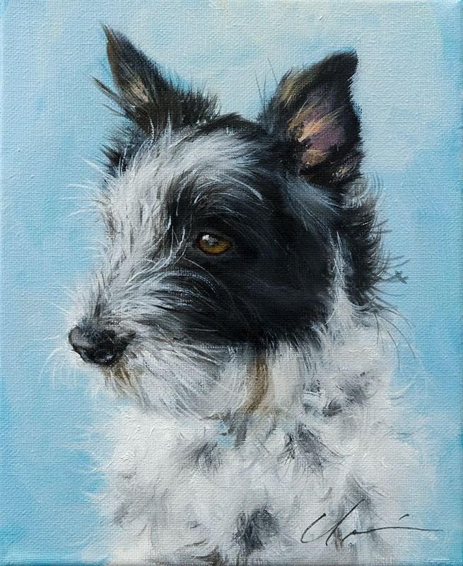 """""""PAINT MY DOG - ZeeZee"""" original fine art by Clair Hartmann"""