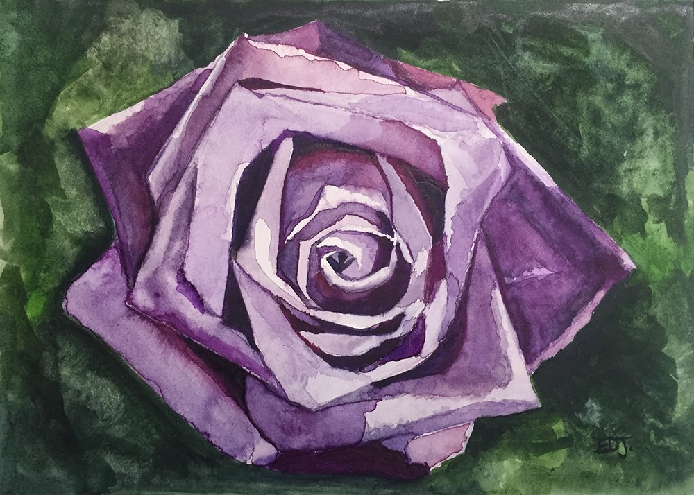 """Purple Rose"" original fine art by Elizabeth Dawn Johnston"
