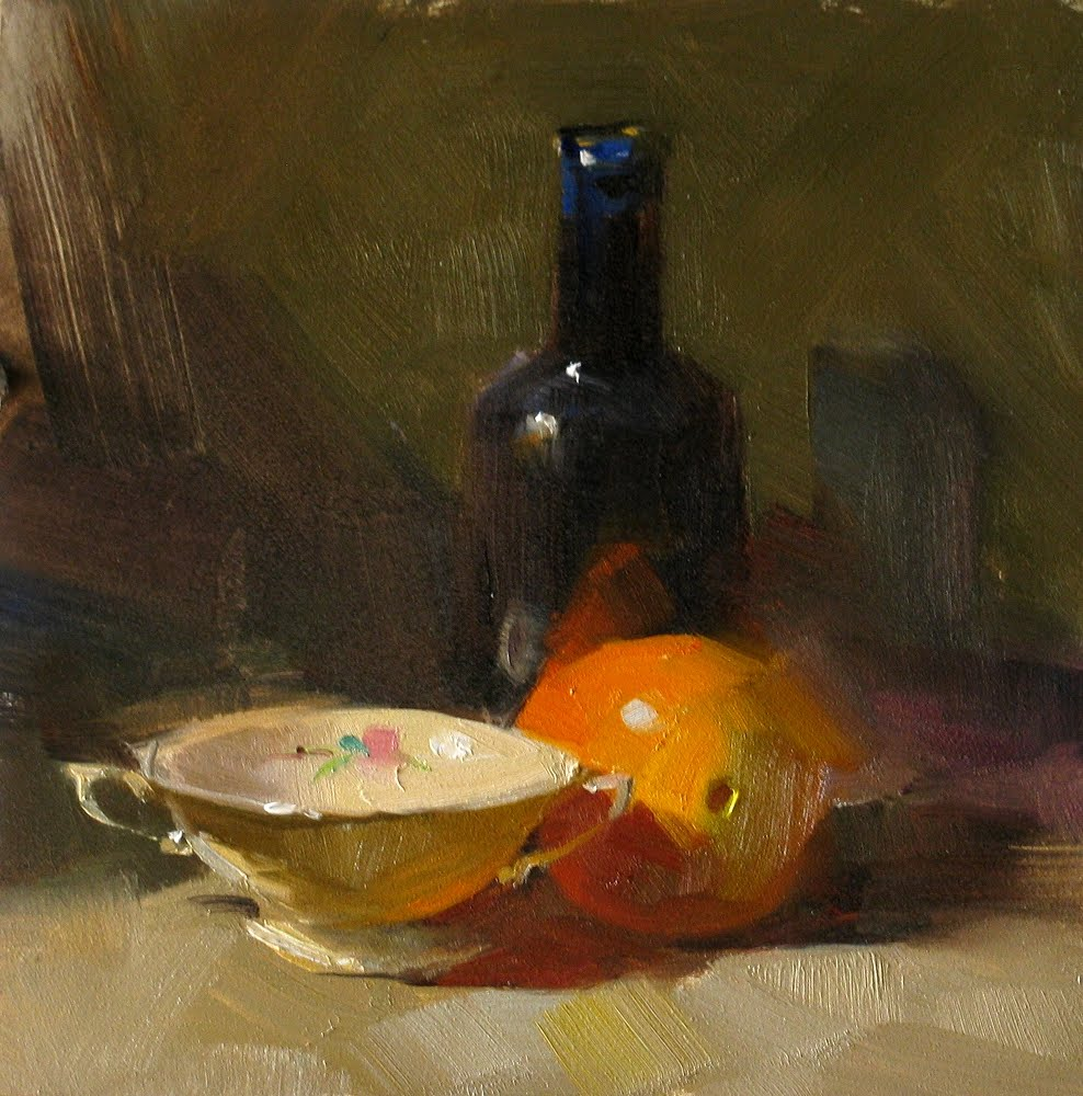 """""""Orange in Vermont --- Sold"""" original fine art by Qiang Huang"""