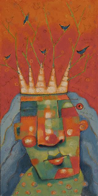 """Margo, Queen Of The Bird Bots"" original fine art by Brenda York"