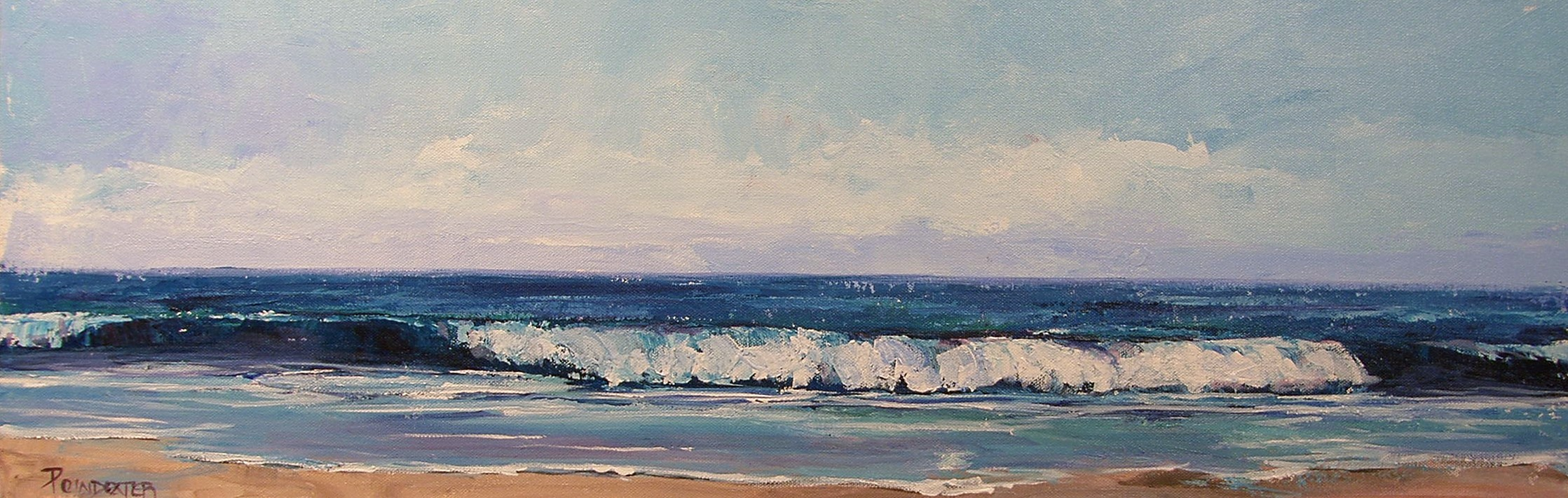 """Blue Wave"" original fine art by Dianna Poindexter"