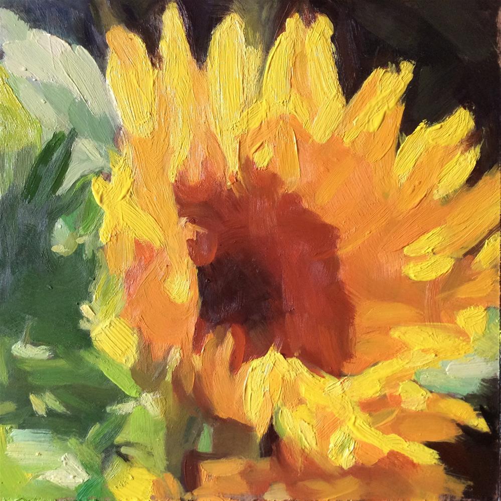 """""""Sunflower"""" original fine art by Paula Howson-Green"""