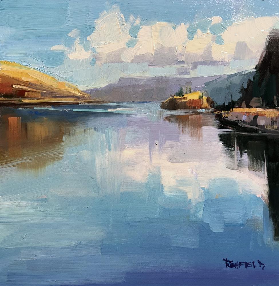 """Gorge Reflections"" original fine art by Cathleen Rehfeld"