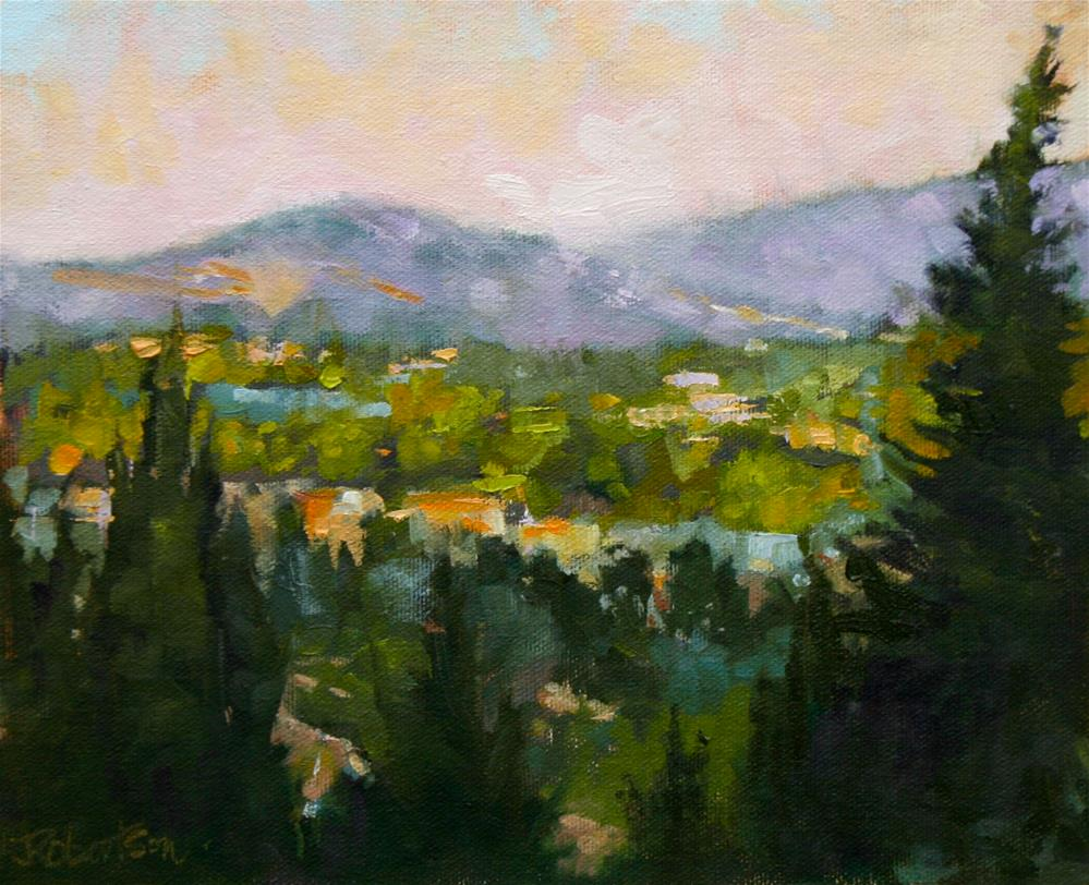 """""""Provence - View from the Chateau"""" original fine art by Jane Robertson"""