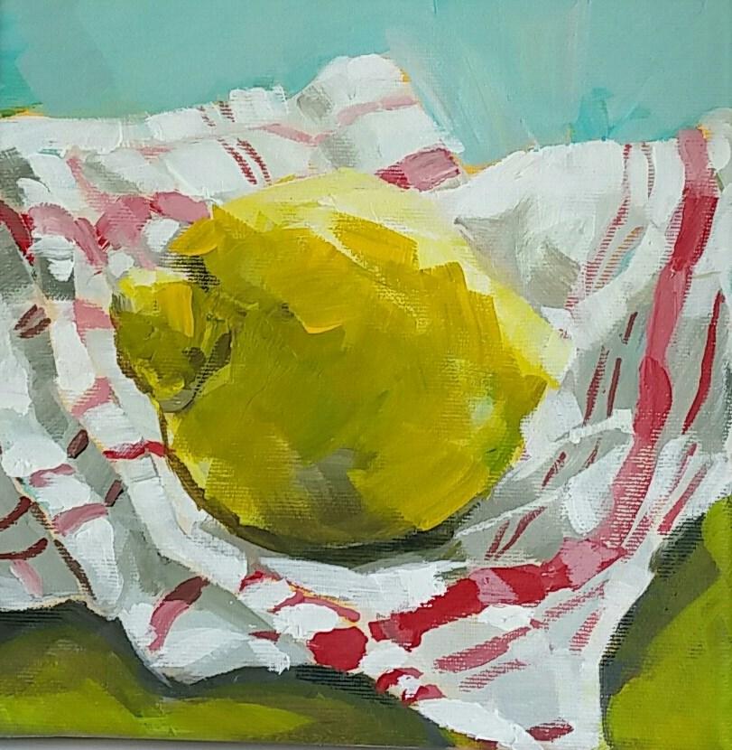 """Lemon"" original fine art by Sabine Hüning"
