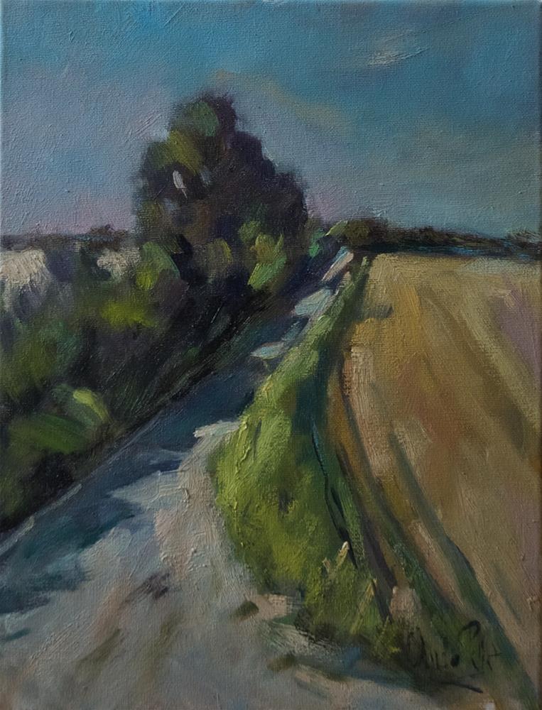 """Lane at the Long Furlong"" original fine art by Andre Pallat"