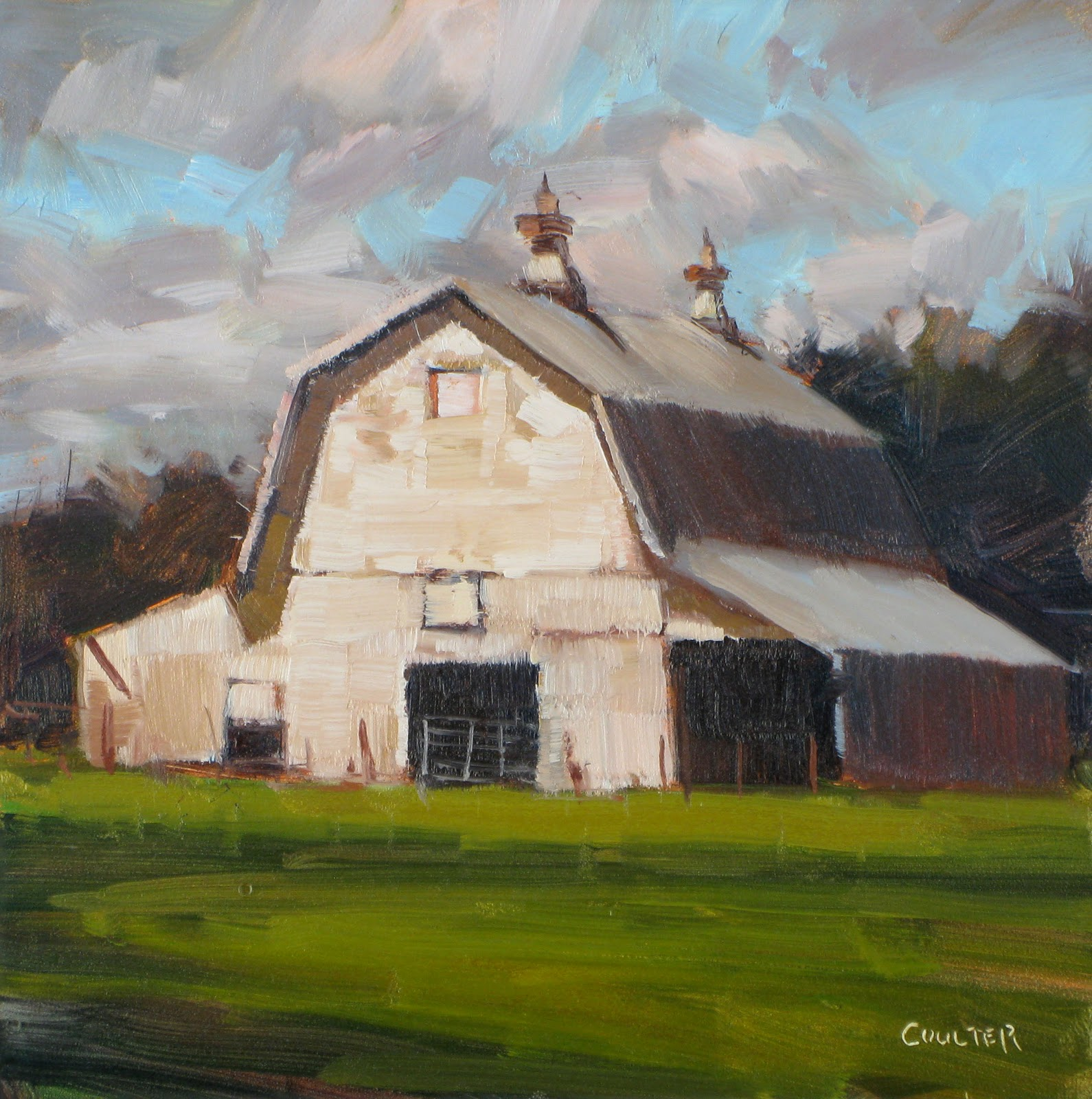 """GEUDA BARN"" original fine art by James Coulter"