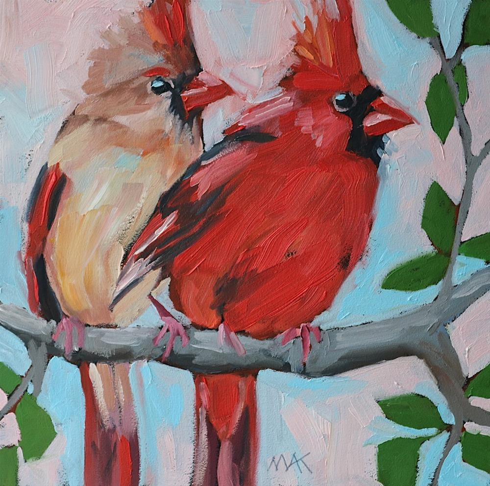 """Love Birds"" original fine art by Mary Anne Cary"