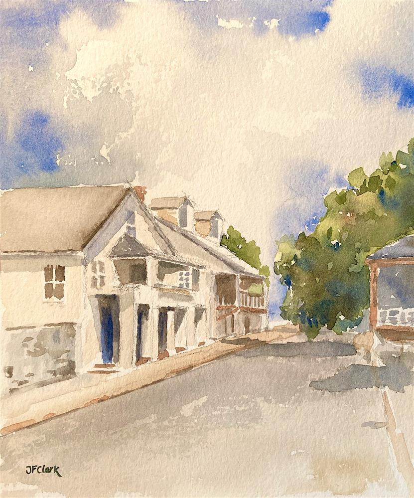 """St. Francis St., St. Augustine FL"" original fine art by Judith Freeman Clark"