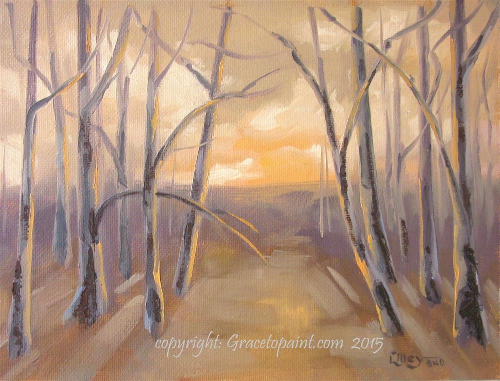 """Amber Woods"" original fine art by Maresa Lilley"