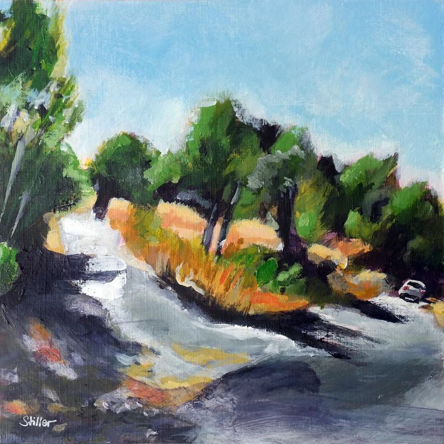 """3201 Landscape in Provence"" original fine art by Dietmar Stiller"