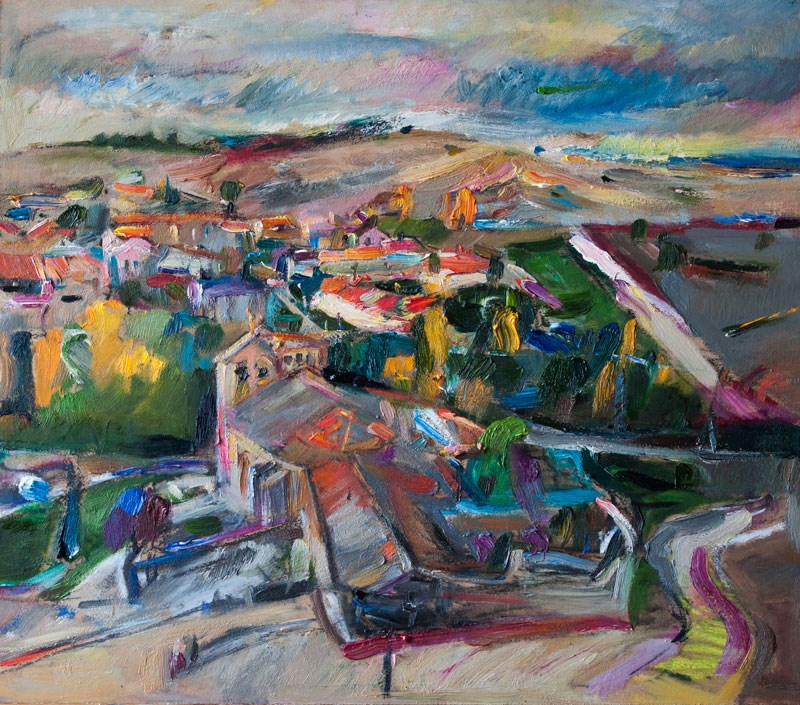 """Spanish Landscape"" original fine art by Anna Fine Art"