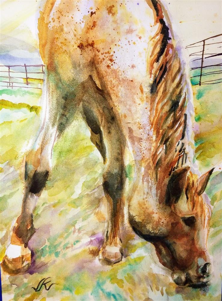 """Nakota, An American Breed"" original fine art by Jean Krueger"