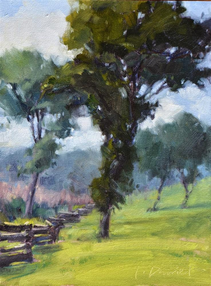 """""""Leaning In and a new workshop for 2014"""" original fine art by Laurel Daniel"""