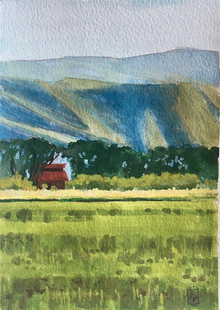 """""""North Fields Autumn"""" original fine art by Carol Granger"""