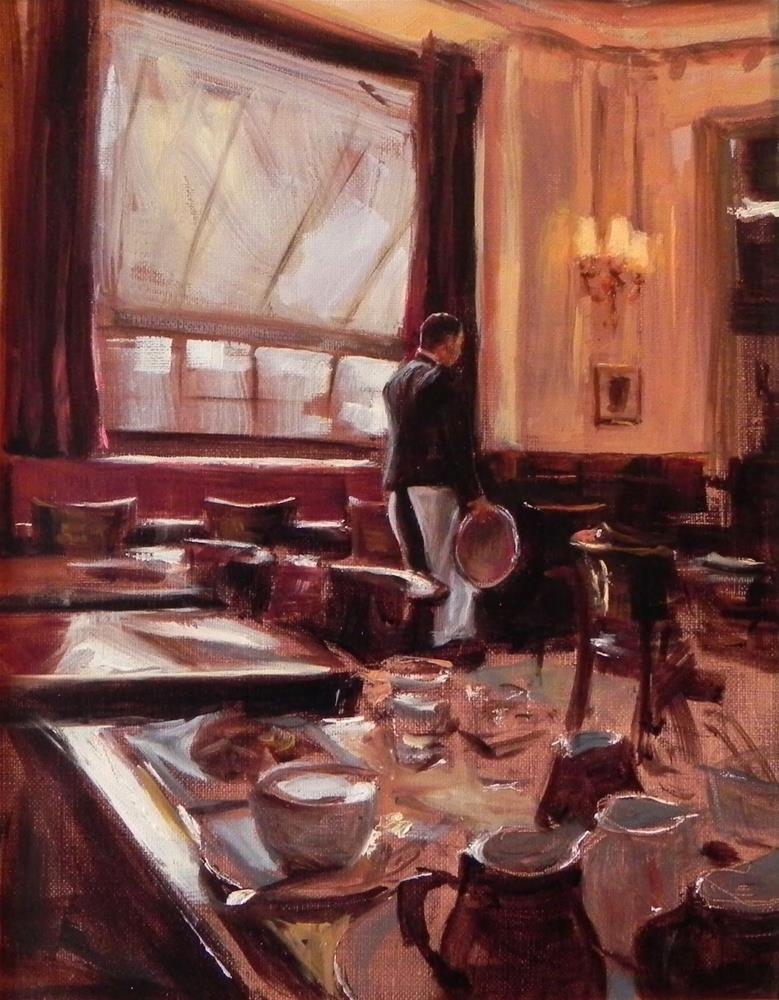 """Les Deux Magots"" original fine art by Jonelle Summerfield"