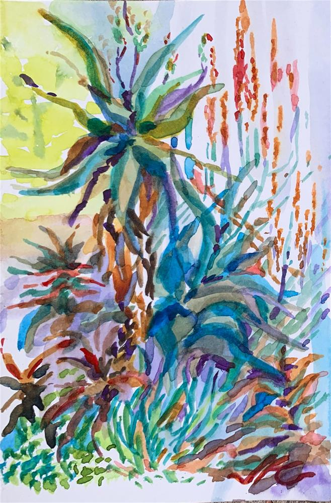 """Aloes"" original fine art by Jean Krueger"