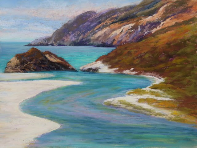 """Pacific Cove"" original fine art by Sharon Lewis"