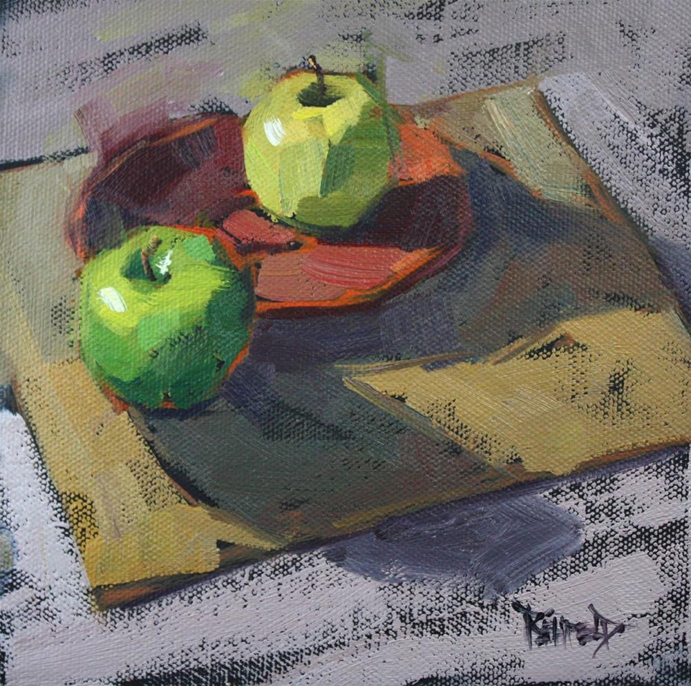 """""""Apples and Neutral Colors"""" original fine art by Cathleen Rehfeld"""
