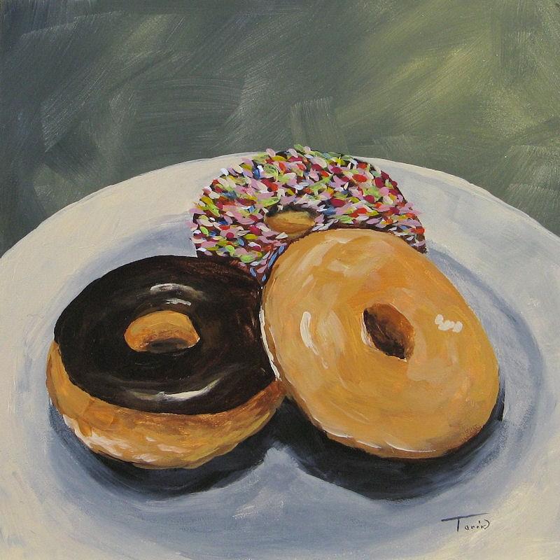 """""""For the Love of Krispy Kreme"""" original fine art by Torrie Smiley"""