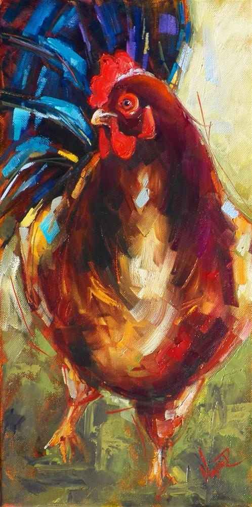 """""""CONTEMPORARY ROOSTER IN OILS by OLGA WAGNER"""" original fine art by Olga Wagner"""
